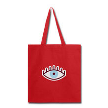 Load image into Gallery viewer, Third Eye Canvas Tote Bag - red