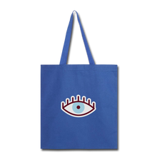 Load image into Gallery viewer, Third Eye Canvas Tote Bag - royal blue