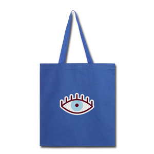 Third Eye Canvas Tote Bag - royal blue