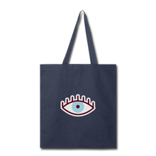 Load image into Gallery viewer, Third Eye Canvas Tote Bag - navy