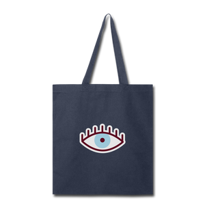 Third Eye Canvas Tote Bag - navy
