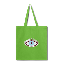 Load image into Gallery viewer, Third Eye Canvas Tote Bag - lime green
