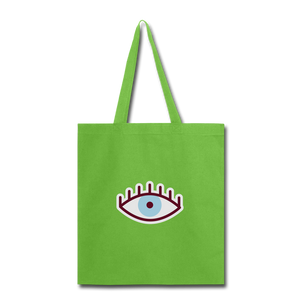 Third Eye Canvas Tote Bag - lime green