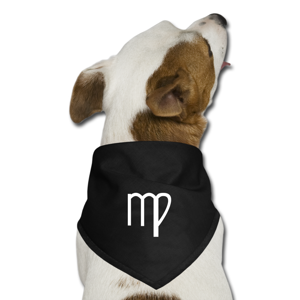 Virgo Sign Dog Bandana - black