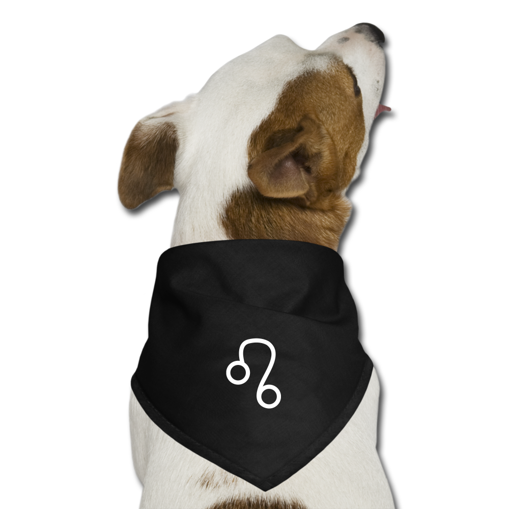 Leo Sign Dog Bandana - black