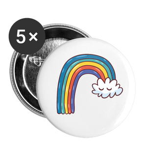 Rainbow Aura Buttons small 1'' (5-pack) - white