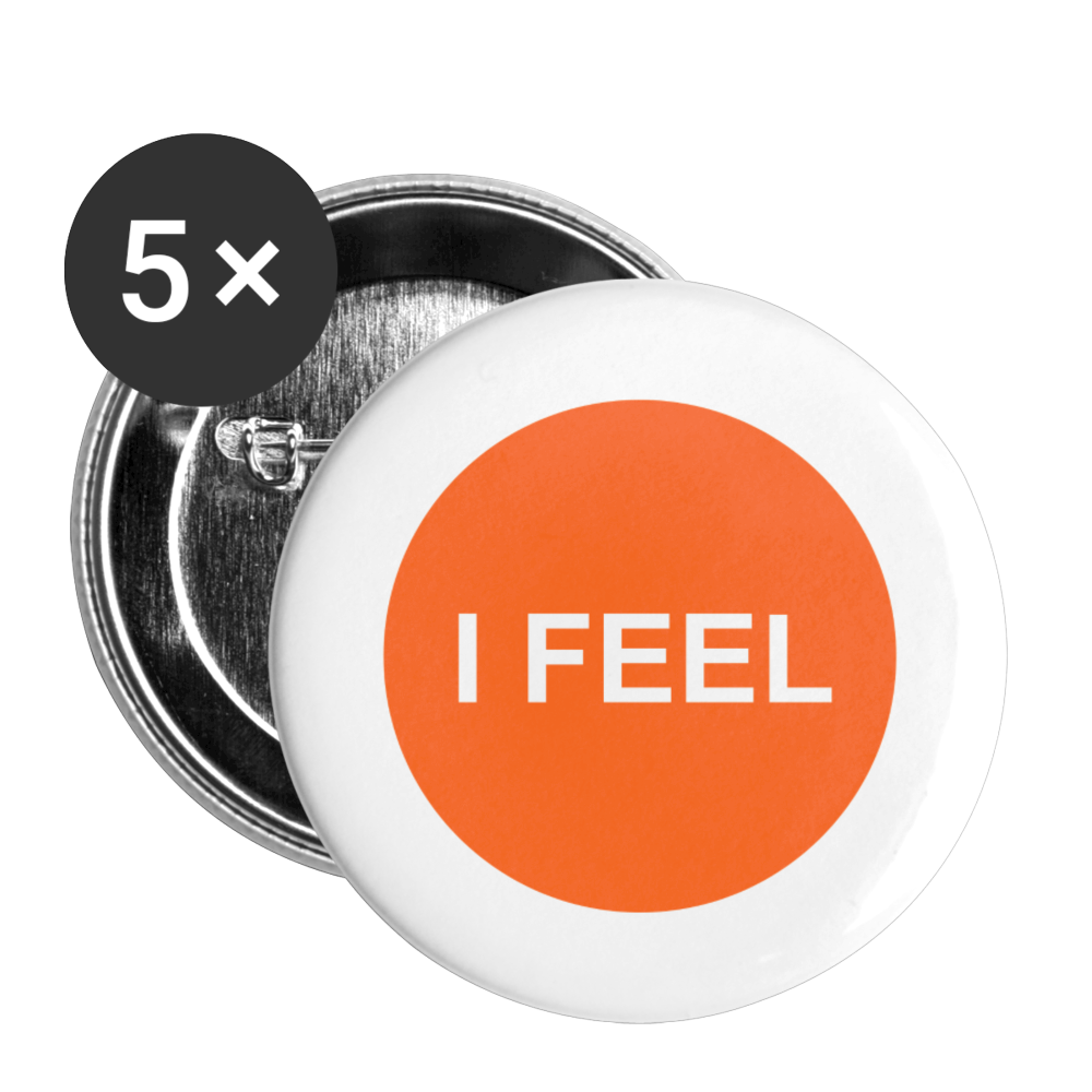 I FEEL Sacral Chakra Buttons small 1'' (5-pack) - white