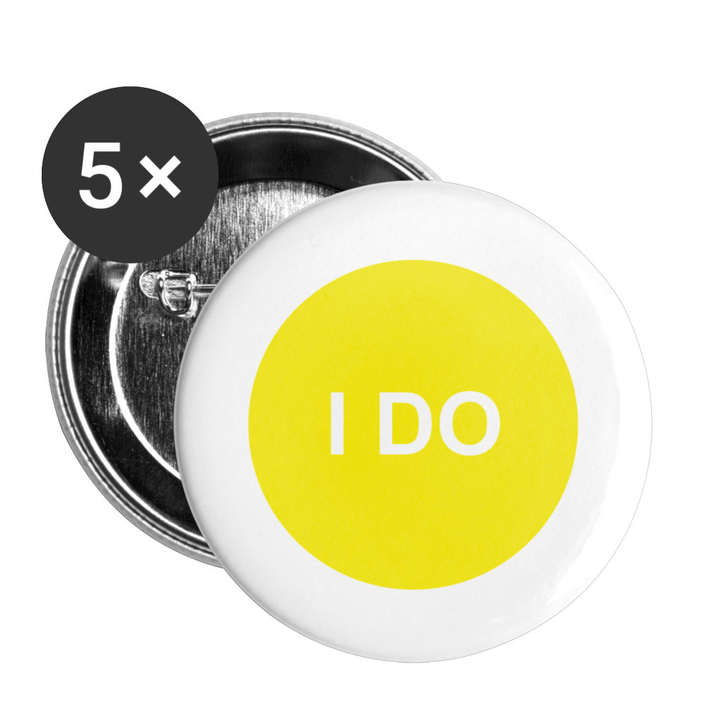 I DO Solar Plexus Buttons small 1'' (5-pack) - white