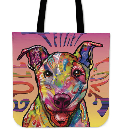Bull Terrier Linen Tote Bag
