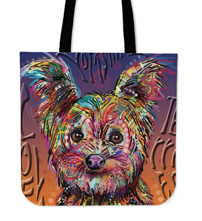 Yorkshire Terrier Linen Tote Bag