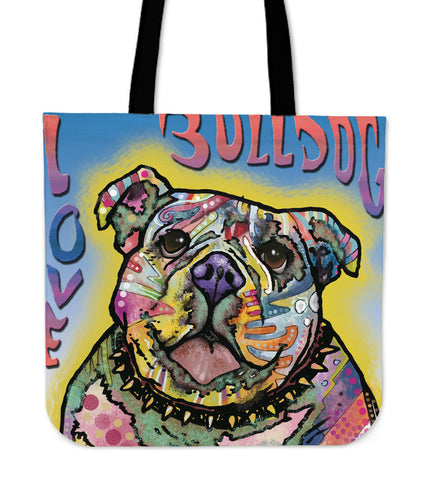 Bull Dog Linen Tote Bag