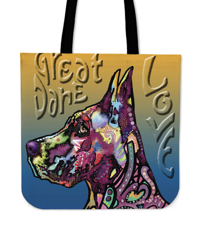 Great Dane Linen Tote Bag