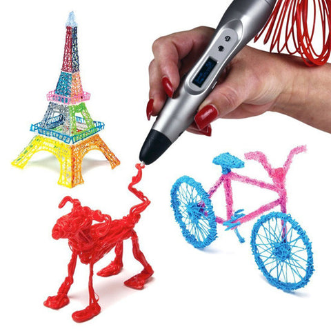 Kids Creative 3D Pen w/ 3 Color Filament Kit Gift Set