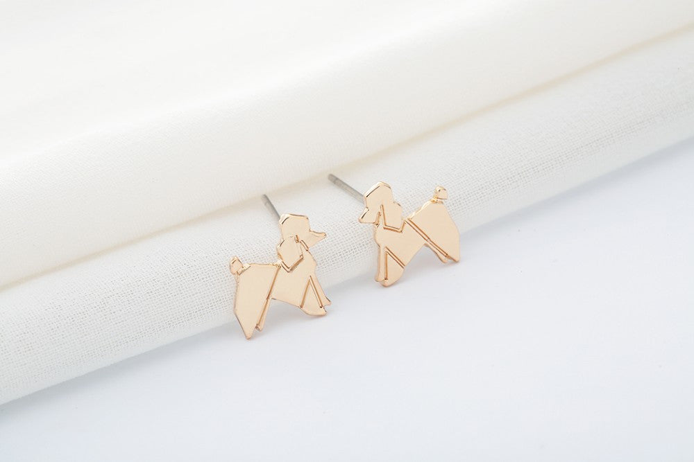 Lovely Balloon Poodle Dog Stud Earrings Offer