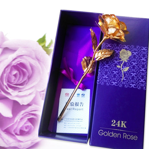 24K Gold Dipped Rose in Gift Box w/ Certificate