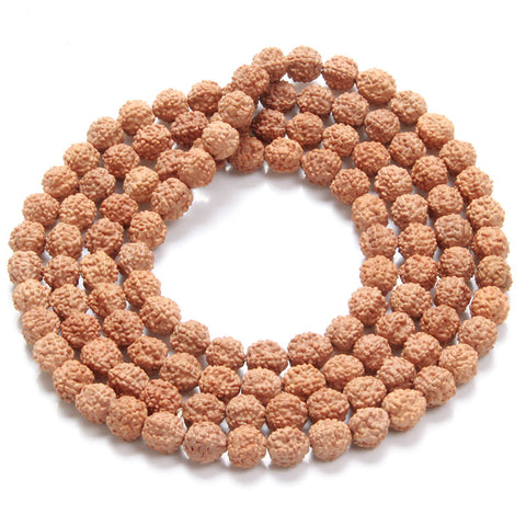 Wood Beads Charm Rudraksha Prayer Bracelet