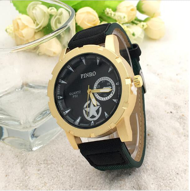 Canvas Quartz Wristwatch