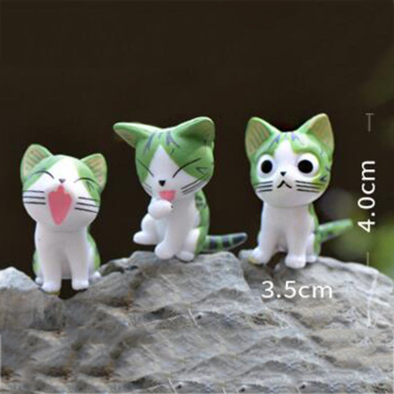 Bonsai Mini Cute Cat Landscape Figurines (6 Piece Set) Offer