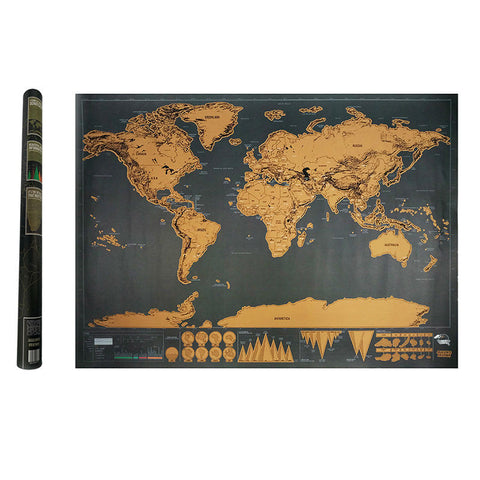 Deluxe Wall World Scratch Map