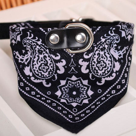Adjustable Puppy Bandana w/ Metal Buckle Collar