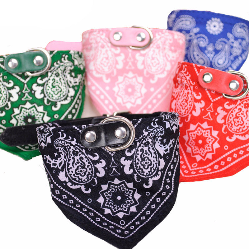 Adjustable Puppy Bandana w/ Metal Buckle Collar Offer