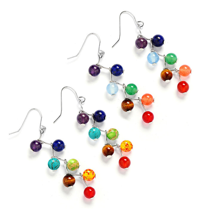 7 Chakra Rainbow Yoga Drop Earrings