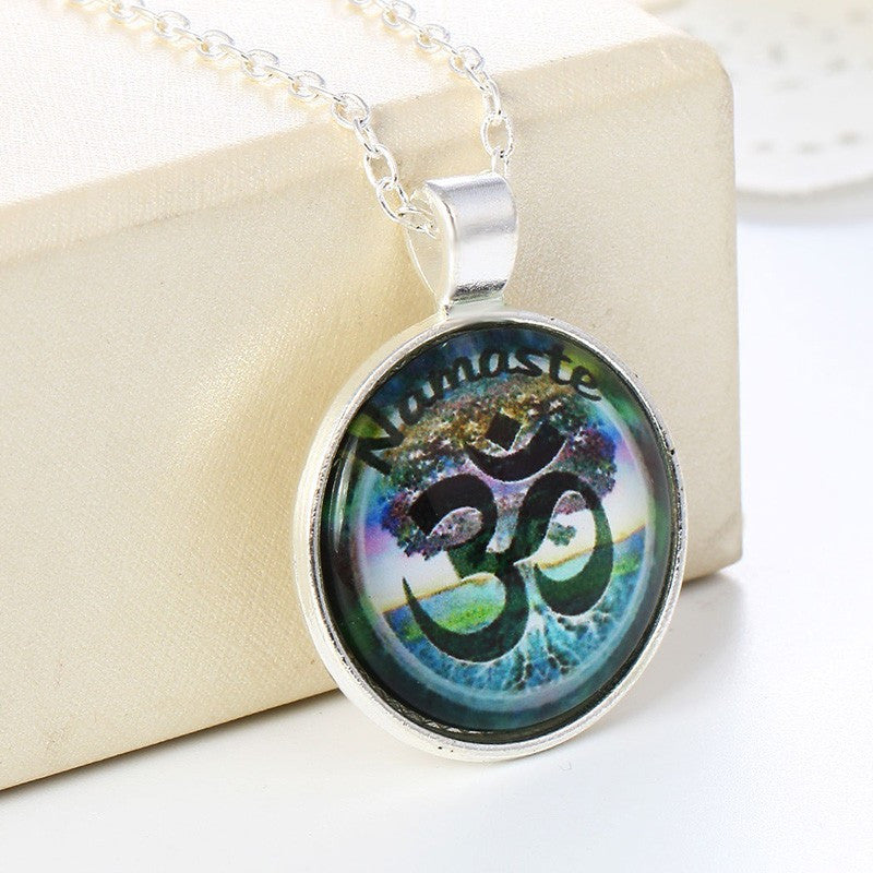Vintage Casual Yoga Pendant Necklace for Women