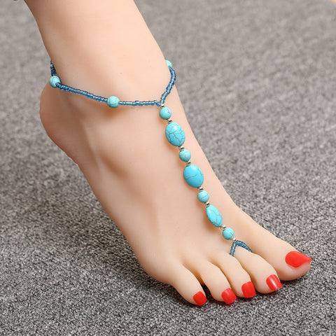 Sandals Stone Anklet for Women