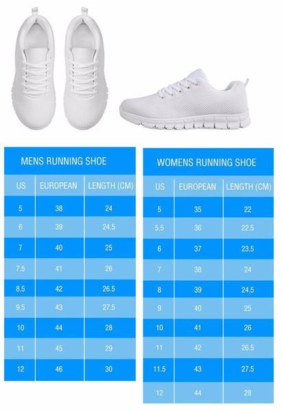 Border Collie Children`s Girl Running Shoes (White)