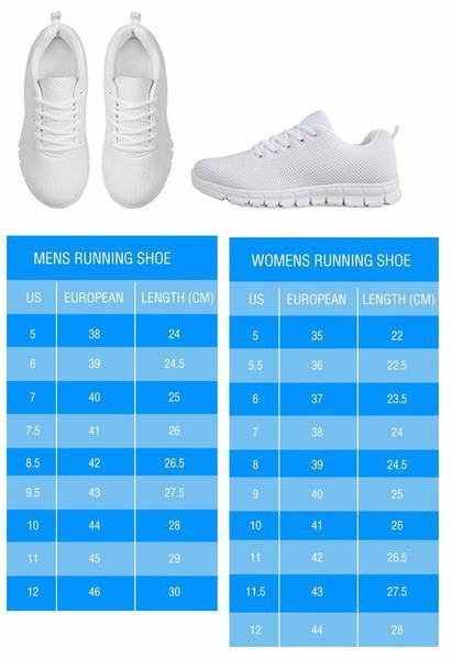 German Shepherd Men's Running Shoes (White)