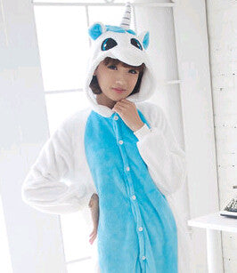 New Flannel Unicorn  Pijama Cartoon Cosplay Adult Unisex Homewear Onesies for adults animal Pajamas Women pajama unicornio