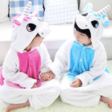 Unicorn Pajamas in Pink and Blue Colors Cosplay Kigurumi Halloween Costume Children S,M,L and XL