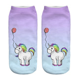 Unicorn Socks in Several Cute and Magical Designs for Women and Girls Ankle Length with Balloon
