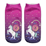 Unicorn Socks in Several Cute and Magical Designs for Women and Girls Ankle Length Donut
