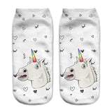 Unicorn Socks in Several Cute and Magical Designs for Women and Girls Ankle Length Rainbow Horn