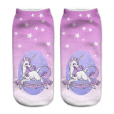 Unicorn Socks in Several Cute and Magical Designs for Women and Girls Ankle Length Stary Sky