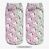 Unicorn Socks in Several Cute and Magical Designs for Women and Girls Ankle Length Multiple Heads