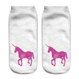 Unicorn Socks in Several Cute and Magical Designs for Women and Girls Ankle Length Purple Unicorn