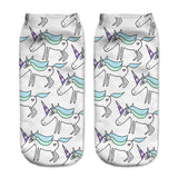 Unicorn Socks in Several Cute and Magical Designs for Women and Girls Ankle Length Blue Mane