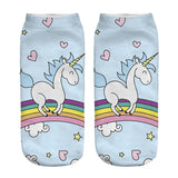 Unicorn Socks in Several Cute and Magical Designs for Women and Girls Ankle Length Walking on Rainbow