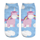 Unicorn Socks in Several Cute and Magical Designs for Women and Girls Ankle Length Pink Unicorn