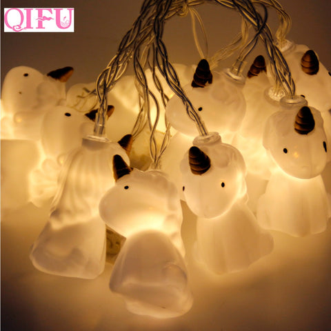 10pcs Unicorn Head LED String Light Lamp For Christmas!