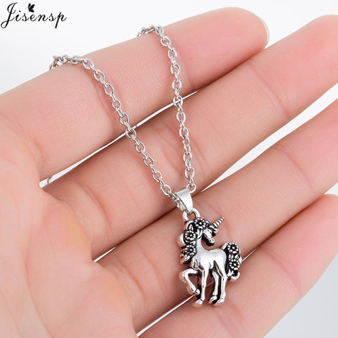 Jisensp Female Fashion Unicorn Statement Necklace