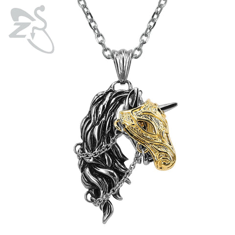 New Unicorn Pendant Necklace - Unisex Stainless Steel Necklace