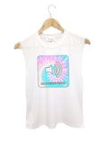 EAST KNITTING F1453 New Fashion Fitness Unicorn Printed Women T-Shirts Sexy Tops Sleeveless Casual Sport Top