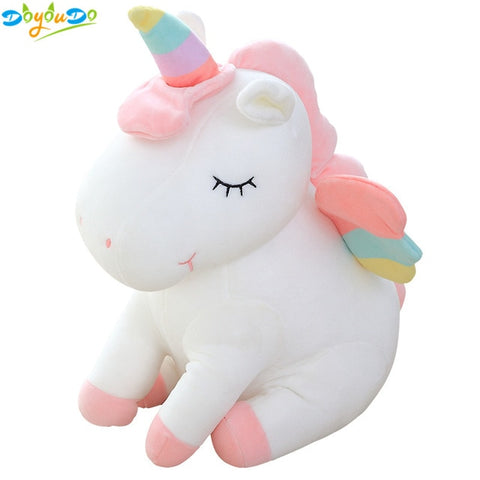 30cm Cute Rainbow Unicorn Plush Toys Lovely Unicorn Stuffed Animal Horse Toy Doll Children Toys Baby Cuddle Toys Birthday Gifts