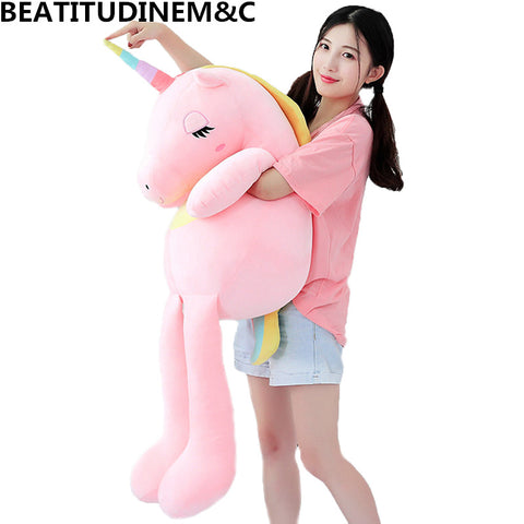 New Large Soft Unicorn Animal Plush Toy Stuffed Toy Girl Gift Children's Toy Sofa Pillow Cushion Home Decoration