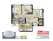3Room BTO Package 3B (11 Lights)
