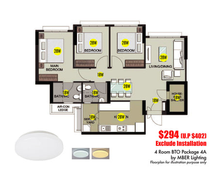 4Room BTO Package 4A (12 Lights)