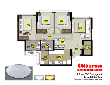 4Room BTO Package 4B (12 Lights)